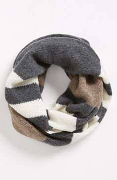 Nordstrom Stripe Cashmere Infinity Scarf Womens Charcoal One Size One Size Looks Style, Style Me, Scarf Hat, Cozy Scarf, Sweater Weather, Dress Me Up, Look Fashion, Autumn Winter Fashion, Fashion Accessories
