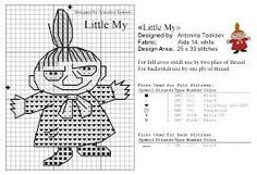 Bilderesultat for little my knitting pattern moomin Cross Stitching, Cross Stitch Embroidery, Cross Stitch Patterns, Knitting Charts, Knitting Patterns, Les Moomins, Knitted Mittens Pattern, Tapestry Crochet Patterns, Stitch Cartoon