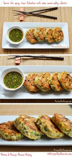 A recipe for fishcakes are super easy to make, healthy, gluten-free and very inexpensive using simple pantry items. If you like Thai and Asian flavors, then these fishcakes are definitely for you! Tinned Tuna Recipes, Fresh Tuna Recipes, Healthy Tuna Recipes, Tuna Fish Recipes, Asian Recipes, Healthy Eating, Healthy Meals, Healthy Food, Recipe For Fish Cakes