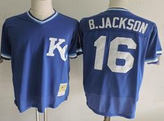 Kansas City Royals #16 Bo Jackson Mitchell & Ness Royal 1989 Cooperstown Collection Batting