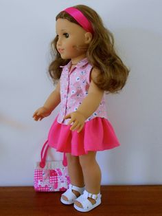 Val Spiers Sews Doll Clothes: Free Skirt Pattern for American Girl Doll