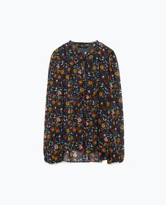 PRINTED SHIRT WITH QUILTED BIB FRONT - Blouses - Tops - WOMAN - SALE | ZARA United Kingdom