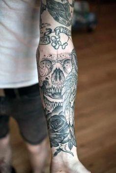 Skull Forearm Tattoos For Guys