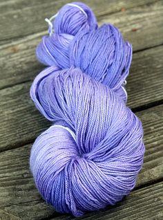 Silk Merino Hand Dyed Sock Yarn - 115g - Semisolid Periwinkle