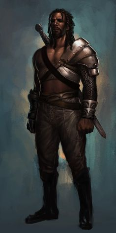 I think dreadlocks make characters look more badass in concept art. I am probably wrong.