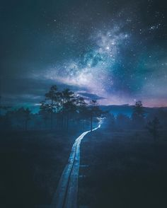 "artofvisualscollective: ""Amazing Photography by Juuso Hämäläinen "" Beautiful Sky, Beautiful Landscapes, Beautiful World, Beautiful Places, Starry Night Sky, Night Skies, Amazing Photography, Landscape Photography, Sky Full Of Stars"