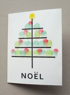 fingerprint christmas card 18 http://hative.com/homemade-christmas-cards/