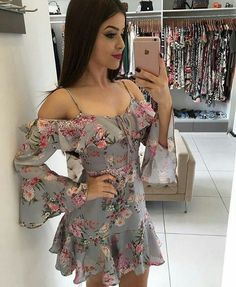 Que dress fofo😍💋 Sexy Dresses, Cute Dresses, Casual Dresses, Short Dresses, Casual Outfits, Fashion Dresses, Summer Dresses, New Dress, Dress Up