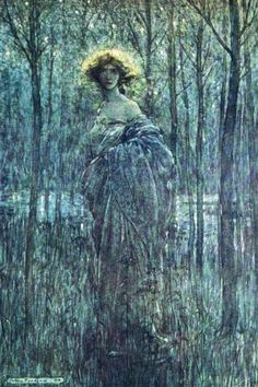 The moonhair woman by Arthur Rackham
