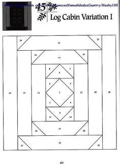 Шаблоны для пэчворка 101 Foundation-Pieced Quilt Blocks 060