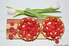 Mini-tartes mangue et framboise - Mango and raspberry pie