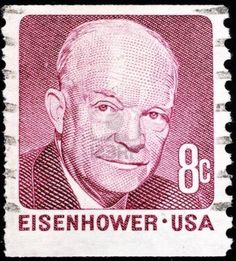United States, 1971, postage stamp issued to commemorate President Dwight D. Eisenhower Stock Photo