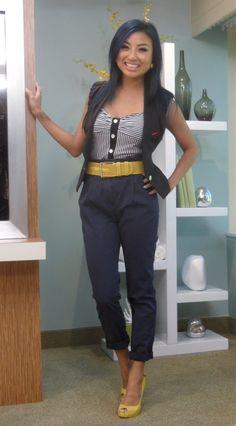 Jeannie Mai- in high waist. I so heart her style