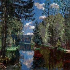 Stanislav Zhukovsky, Polish-Russian (1875–1944) Forest Lake (1934)