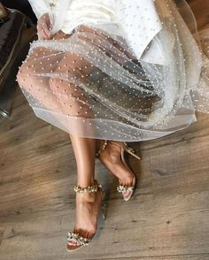 Tulle whimsy & sparkles // i want her legs // but since i'll take the dress too. Fashion Details, Look Fashion, Womens Fashion, Fashion Trends, 90s Fashion, Classy Fashion, Fashion Belts, High Fashion, Fashion Shoes