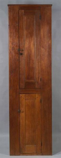 Shaker Pine Red Stained Recessed Panel Cupboard Shaker, Country Furniture, Red Stain, Primitive Decorating, Furniture, Colonial Furniture, Paneling, Bathroom Tall Cabinet, Cupboard