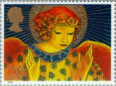 Stamp: Angel with Hands raised in Blessings (United Kingdom of Great Britain…