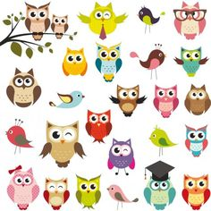 Owl Happy stock photos and royalty-free images, vectors and illustrations Owl Vector, Free Vector Art, Cartoon Birds, Cartoon Images, Owl Patterns, Owl Bird, Cute Owl, Rock Art, Painted Rocks