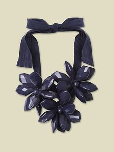 Flower power with our Big Flower Necklace in Navy (recently featured on Red magazine's online site)!