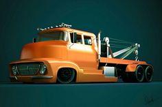 6 wheel Ford COE wrecker