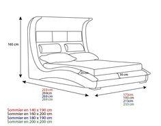 Lit en cuir avec rangements - Nublio - Mobilier Moss Bed Frame Design, Bedroom Bed Design, Modern Bedroom Decor, Bedroom Furniture Design, Custom Made Furniture, Bed Furniture, Furniture Projects, Hall Interior Design, Smart Bed