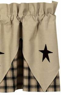 Live Love Laugh Primitive Country Star Point Valance From Ihf Rustic Curtainskitchen