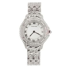 CARTIER Cougar White Gold Diamond Women's Watch