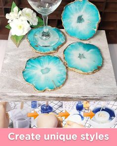 Create your unique pattern resin coaster😍😍 Diy Resin Art, Diy Resin Crafts, Rock Crafts, Fun Crafts, Diy And Crafts, Crafts For Kids, Money Making Crafts, Crafts To Sell, Craft Projects