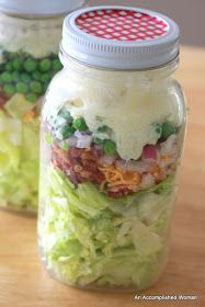 An Accomplished Woman: Seven Layered Salad in a Jar