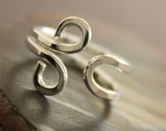 Sterling silver ring in spiral with wrapped small by IngoDesign