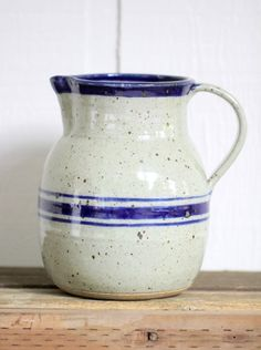 Vintage French Pottery Pitcher