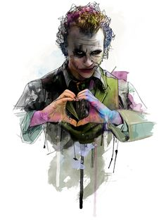 Heath Ledger as Joker by Katt Phatt Joker Batman, Heath Ledger Joker, Joker Art, Superman, Joker Comic, Batman Arkham, Batman Robin, Der Joker, Joker Und Harley Quinn