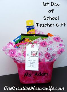 Teacher Gift 1st day of school
