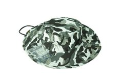 73d902ea2a4 Black and White Camo Aussie Safari Hat with Plastic Pockets. K K Designer  Pockets