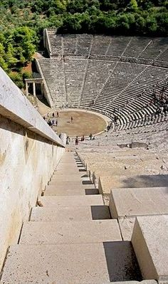 *GREECE~Ancient Theatre of Epidaurus, Peloponnese mainland destination Ancient Ruins, Ancient Greece, Ancient Artifacts, Ancient Egypt, Albania, Ancient Greek Architecture, Greece Architecture, Theatre Architecture, Architecture Design