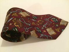 Alynn neckwear mens neck tie Doctor in the house NeckTie 100% Silk Dr Doc #Alynn #NeckTie