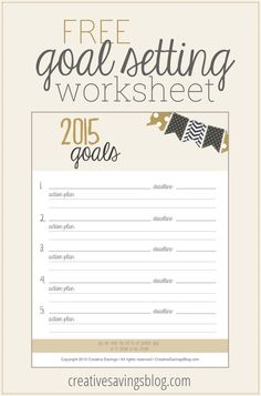 Resolutions might not work, but goals DO. Use this free Goal Setting Worksheet to write out your 5 major goals for the year, then outline all the achievable action steps to help you get there!