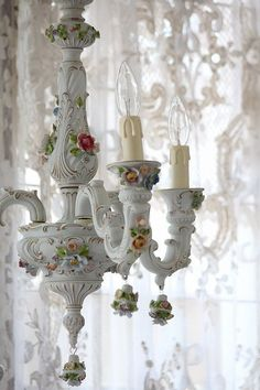The Perfect Cottage Chandelier~❥