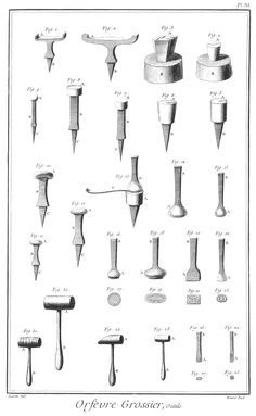 tools - Jewellery - Tattoo World Metal Tools, Old Tools, Tool Poster, Blacksmithing Knives, Blacksmith Tools, Antique Tools, Metal Shop, Metal Fabrication, Jewelry Tools