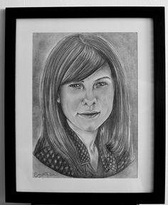 Alexandra, portrait, pencil