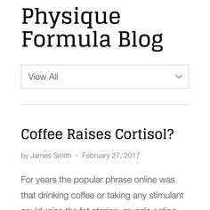 Does #coffee raise the stress hormone #cortisol? It's what #health and #fitness professionals have always said but what's the real truth? Click above for the article  #crossfit #crossfitgirls #fitness #strongnotskinny #fitnessmotivation #selflove #girlswholift  #squats #powerlifting #workhard #bootybuilding #fitspo #liftheavy #strongereveryday #determination #girlswithmuscle  #barbell #fitnessaddict #fit #fitfam #instafit #iifym