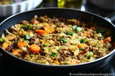 Mustikkasuu: Kaalipata varhaiskaalista Lisää sinappia, ACV, kevätsipuleita ja mausteita.