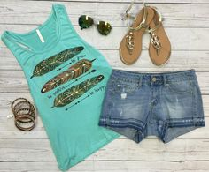 Be Free Be Positive Be Happy Tank: Mint