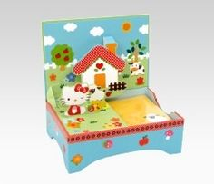 An image of Hello Kitty Pop-Up Desk Note Set: Farm