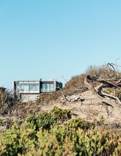 A Luxury Beach House Atop The Sand Dunes In Blairgowrie Delta House, Sense Of Place, Open Plan Living, Architect Design, Ocean Beach, Beach House, Plywood Kitchen, Stone Walls, Exterior