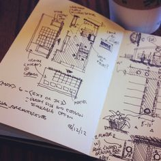 interior/ext remodel process #coffeesketch | 03.12.12