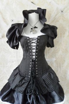 High Seas Pirate Corset Costume -Whole Outfit-Made To Order In Your Size. $239.00, via Etsy.