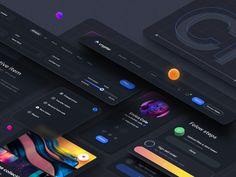 Crypter Component – Dark Theme by Tran Mau Tri Tam ✪ for UI8 on Dribbble App Icon Design, Ui Design Inspiration, Web Design, Original Iphone Wallpaper, Lit Wallpaper, Mobile App Icon, Card Ui, Directory Design, Dark Images