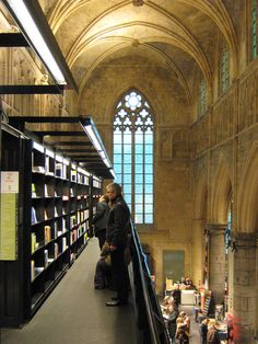 Bookshop in a disused church. Makes you sad to wonder what they'll do with disused bookshops.