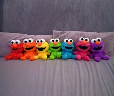 coloured  Elmo